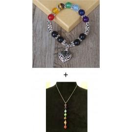 Seven Chakra's Healing Armband en Halsketting