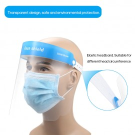 Thermoplastic polyester face shield