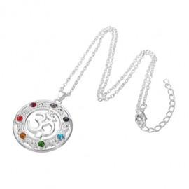 7 Chakra Healing Ohm Necklace