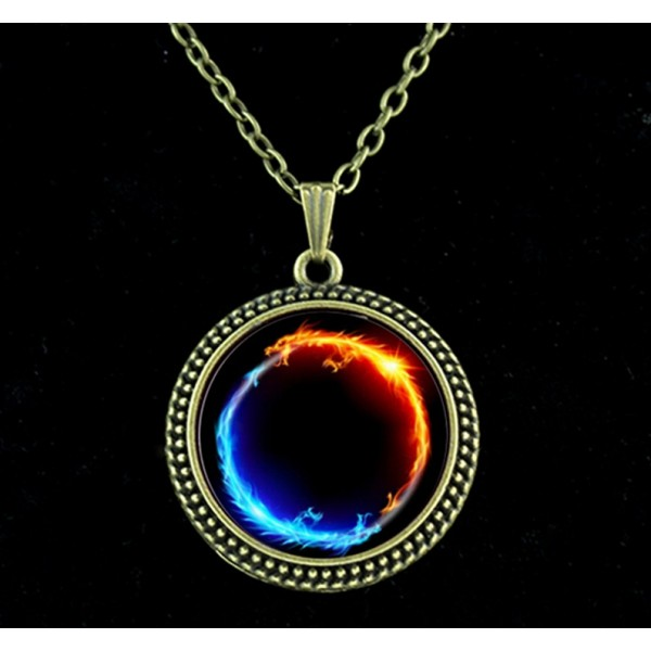 Energy healing Ying Yang Necklace