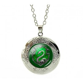Green Luna Snake Necklace