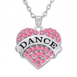 Crystal Hart Love Dance Halsketting