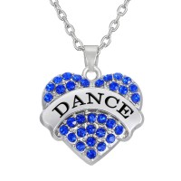 Crystal Hart Love Dance Halsketting