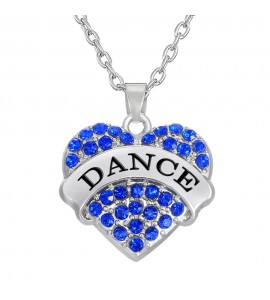 Crystal Heart Love Dance Necklace.