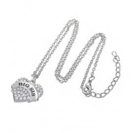 Love for mom. big sister or little sister necklace