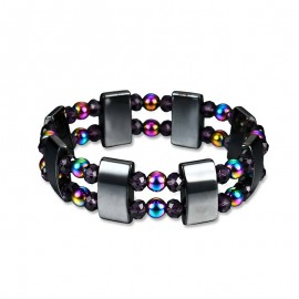 Energetic, magnetic and healing Hematite beaded ladies bracelet