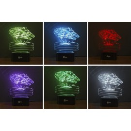 Millennium Falcon 3D 7 colors Led lamp