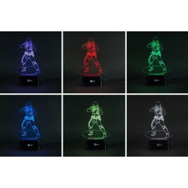 Robocop 3D 7 colors Led lamp