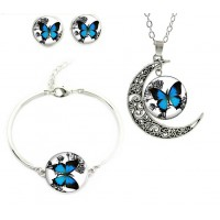 Blue Butterfly Jewelry set