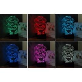 Sweetheart 3D 7 kleuren Led lamp