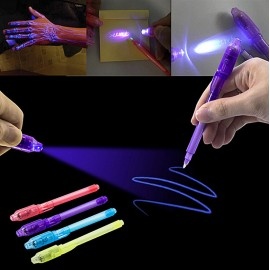 2 in 1 UV Black Light pen